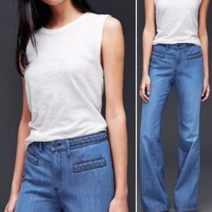 GAP Original Flare Braided Waistband Jeans
